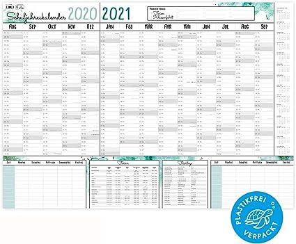 Calendario scolastico XXL 2020 2021 | senza plastica | Calendario