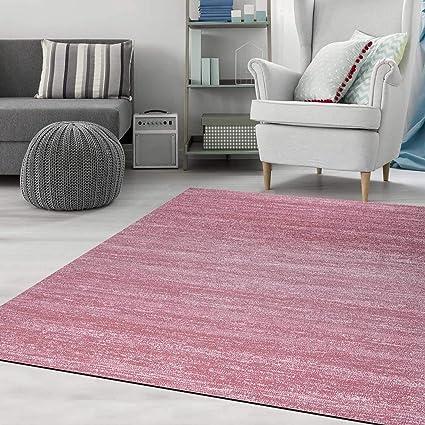 Teppich Kurzflor Wohnzimmer Meliert Mehrfarbig Beige Braun Türkis Grau Blau  Türkis Grau Rosa Grün Pflegeleicht Robust Qualität 160x230 cm