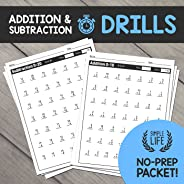 Addition & Subtraction Timed Drills: No Prep Printable Worksh