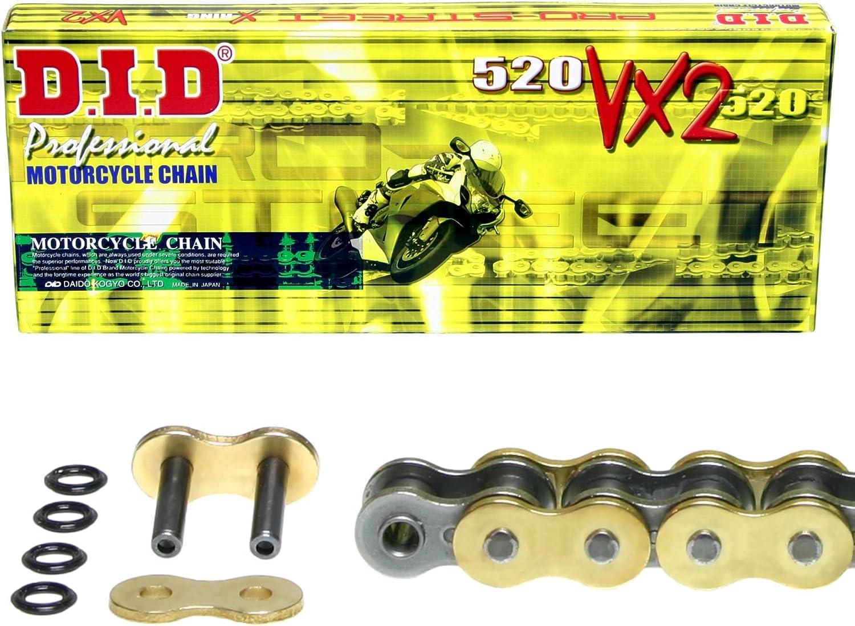 1991-1995 4MD Kettensatz f/ür Yamaha XTZ 660 Tenere VX2 gold Typ 3YF extra verst/ärkt DID X-Ring
