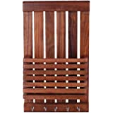 Indian Gifts Shoppee Beautiful Wooden Wall Hanging Key Holder & Envelopes Reck-Brown
