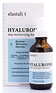 Hyaluronic Acid Hydrating, Firming, Plumping Serum Anti-Aging Hyaluronic Acid Serum for Face Improves Wrinkles, Redness and Dry Skin Non-Greasy Wrinkle Serum Made in USA by Elastalift