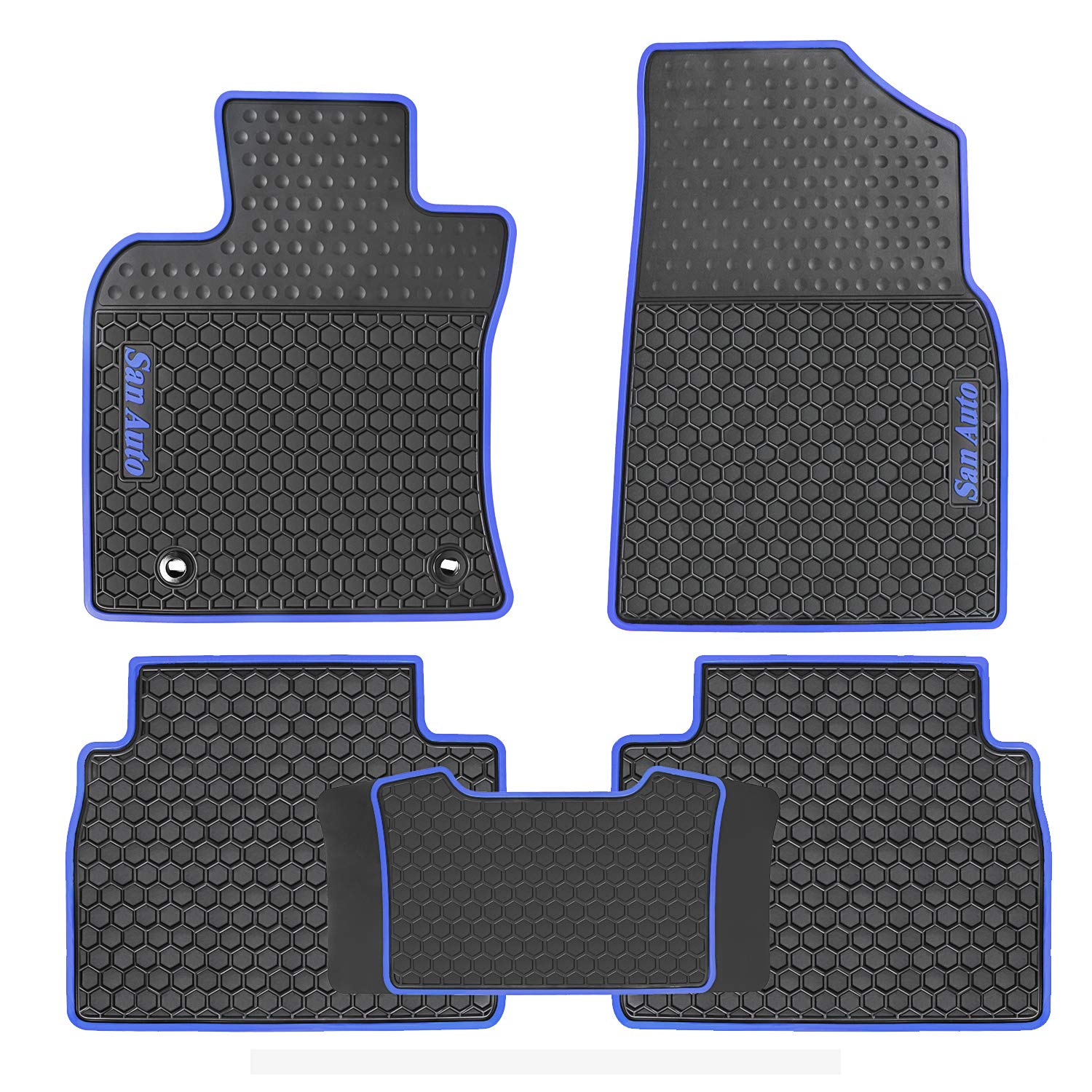 Heavy Duty /& Odorless HD-Mart Toyota Camry 8th 2018-2019 Car Floor Mats Rubber Custom Fit Black Red for All Weather//Season