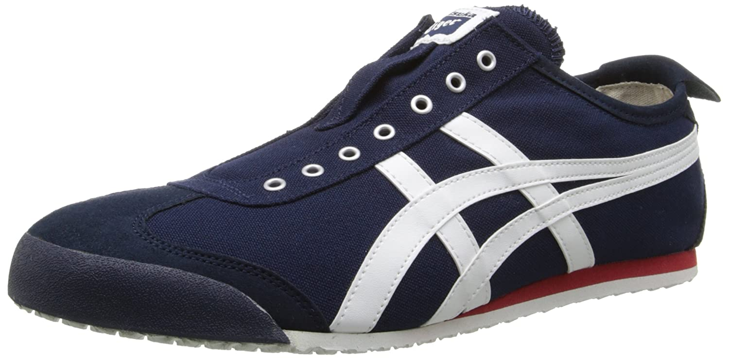 Onitsuka Tiger Mexico 66 Slip-On Classic Running Sneaker B00L8IXVFE 5 M US|Navy/Off White