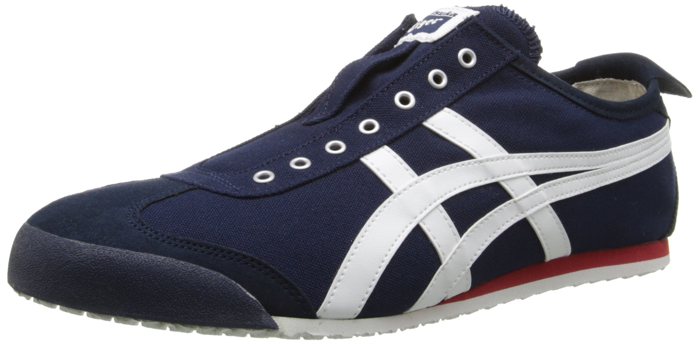 Onitsuka Tiger Unisex Mexico 66 Slip-on Shoes D3K0N, Navy/Off White, 9.5 M US