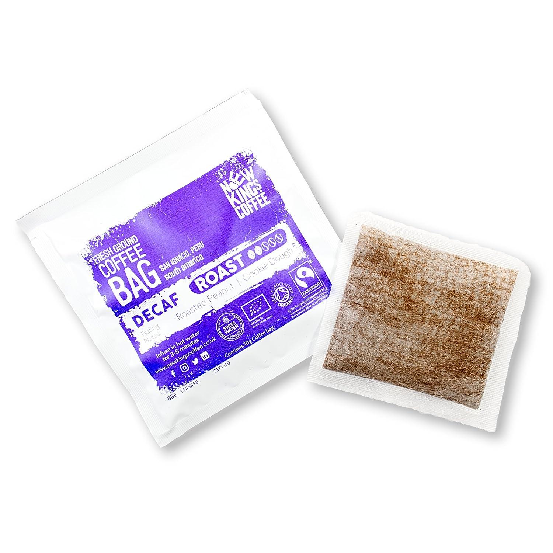 Bolsas de café recién molidas - Fairtrade, orgánico, único origen, 100% arábica (Decaf Roast - San Ignacio, Perú, América del Sur, Caja de 16 bolsas de café ...