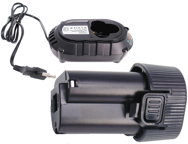 FengWings® BL1013 10.8V 1.5Ah Reemplace la batería + cargador DC10WA Compatible con Makita BMR102 DMR104 BMR107 LXRM02 LXRM03 RMB100 DMR104 BMR10 ...