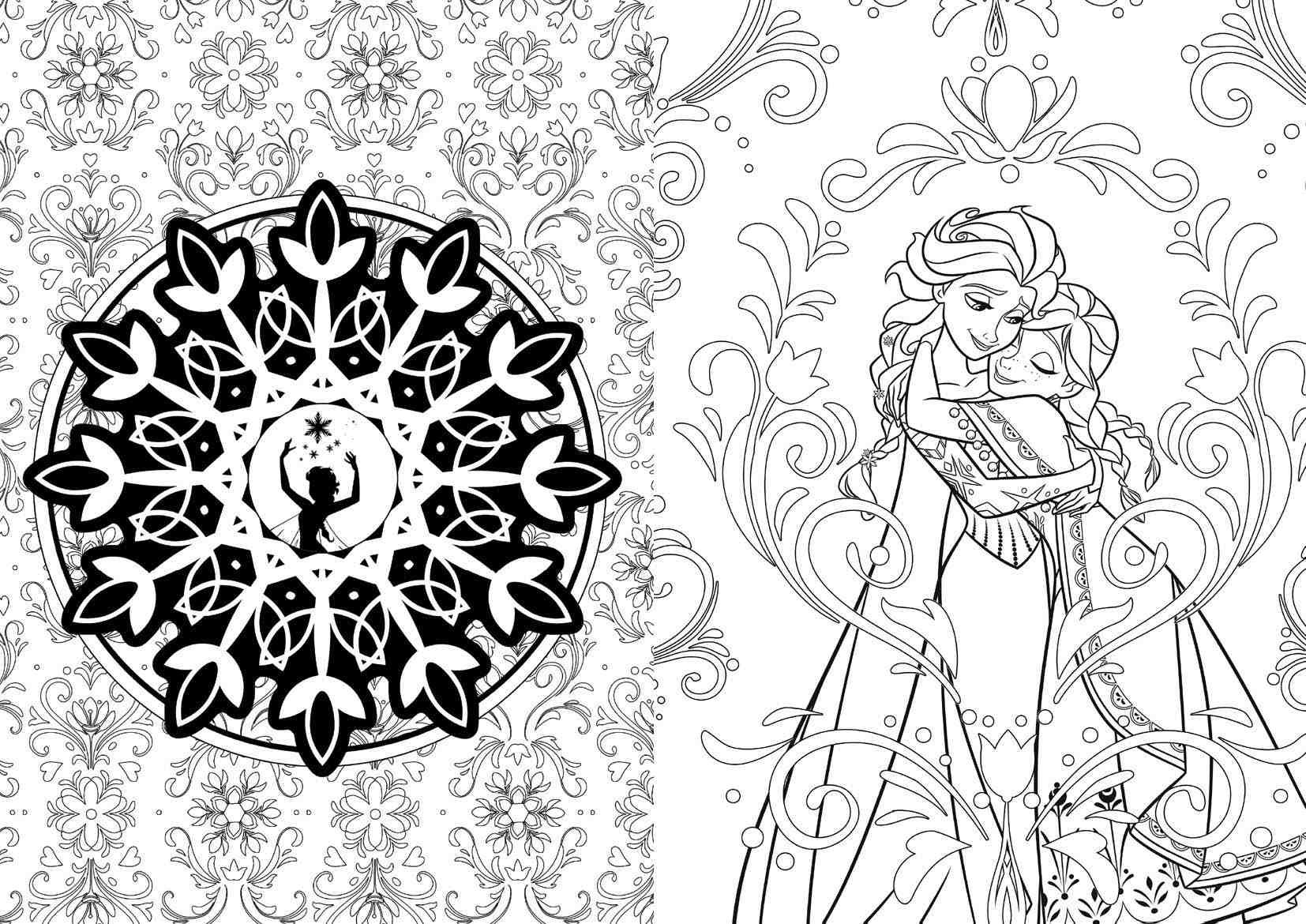 art of coloring disney frozen 100 images to inspire creativity