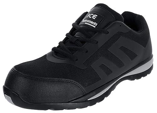 525dda5b ACE Nero Zapatos Especiales para el Trabajo con Puntera - S1 P: Amazon.es:  Zapatos y complementos