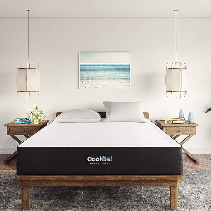 Classic Brands Cool Gel Ventilated Memory Foam 10 Inch Mattress Certipur Us Certified Bed In A Box Twin Furniture Decor Amazon Com