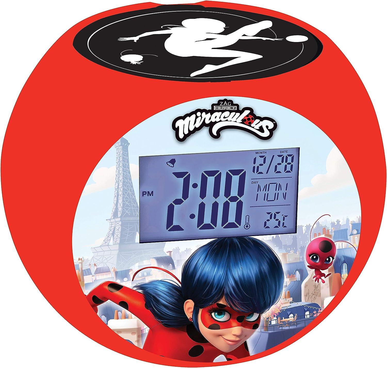 Lexibook - Despertador Digital, Rojo (Ladybug), 13 x 10 x 10.7 cm ...
