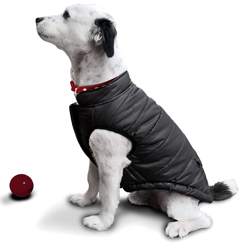 extraweiche winddichte Hundeweste rot JoyDaog 2-lagige mit Fleece gef/ütterte Hundejacke sehr warm f/ür Winter und kaltes Wetter