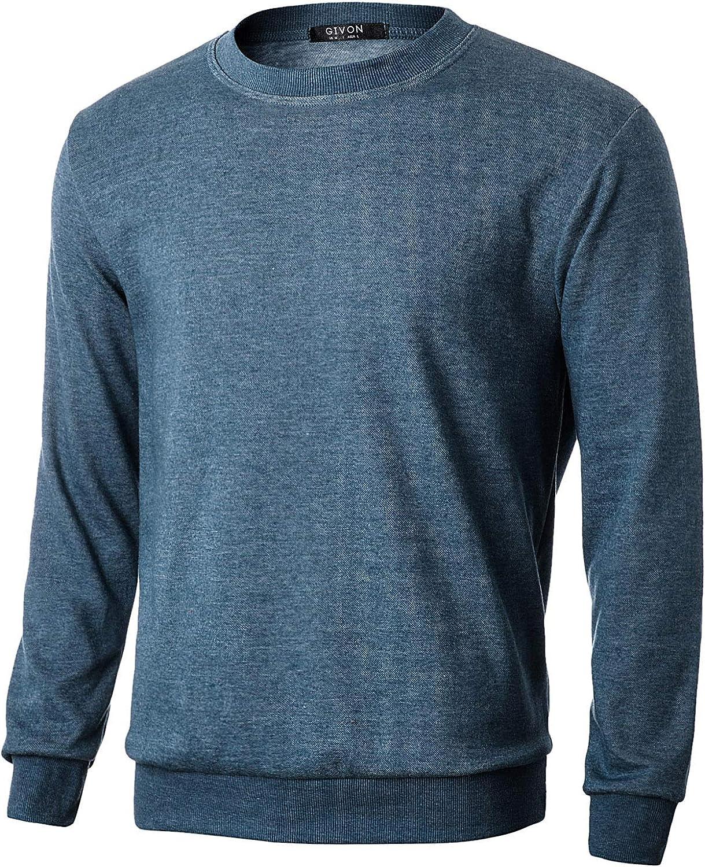 GIVON Mens Lightweight Crew Neck Sweatshirt