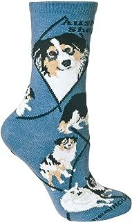 product image for Wheel House Designs Australian Shepherd Women's Argyle Socks (Shoe size 6-8.5)