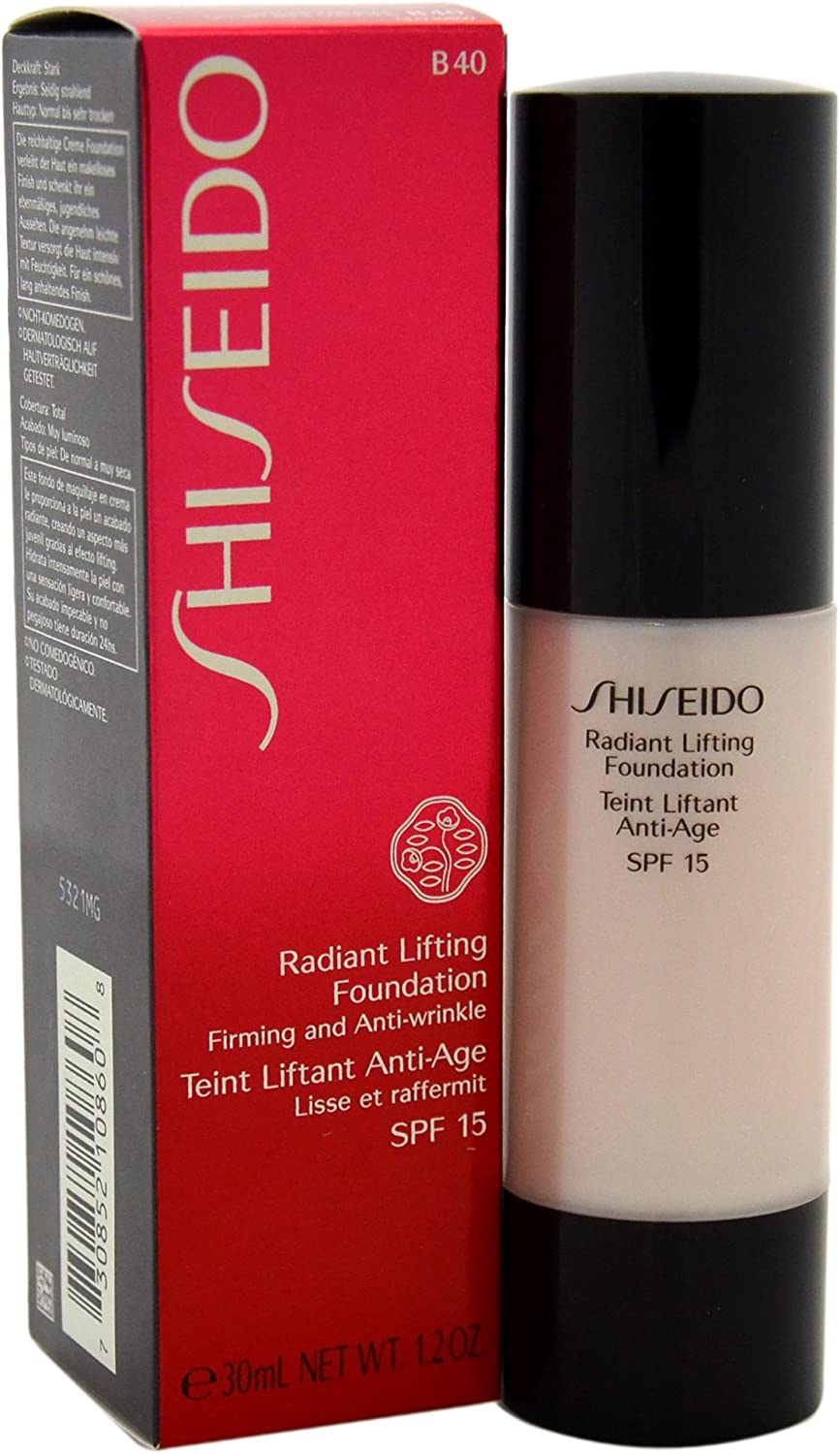 Shiseido Radiant Lifting SPF15# B40 Natural Fair Beige Foundation for Women, 1.2 Ounce