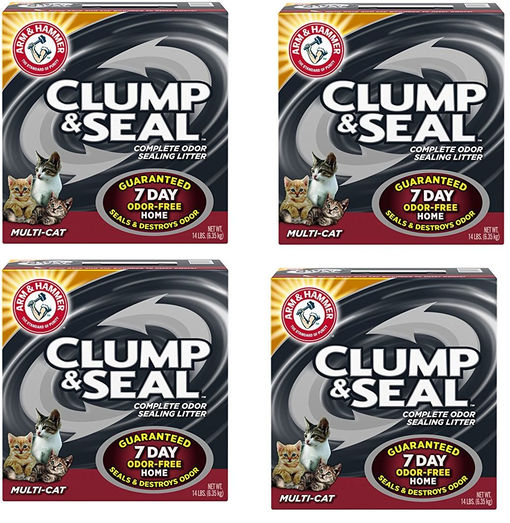 Arm and Hammer hGLVTj Clump and Seal Multi-Cat Litter, 14 lb (4 Pack)
