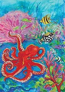 Toland Home Garden 119439 Octopus Garden 12.5 x 18 Inch Decorative, Flag (12.5