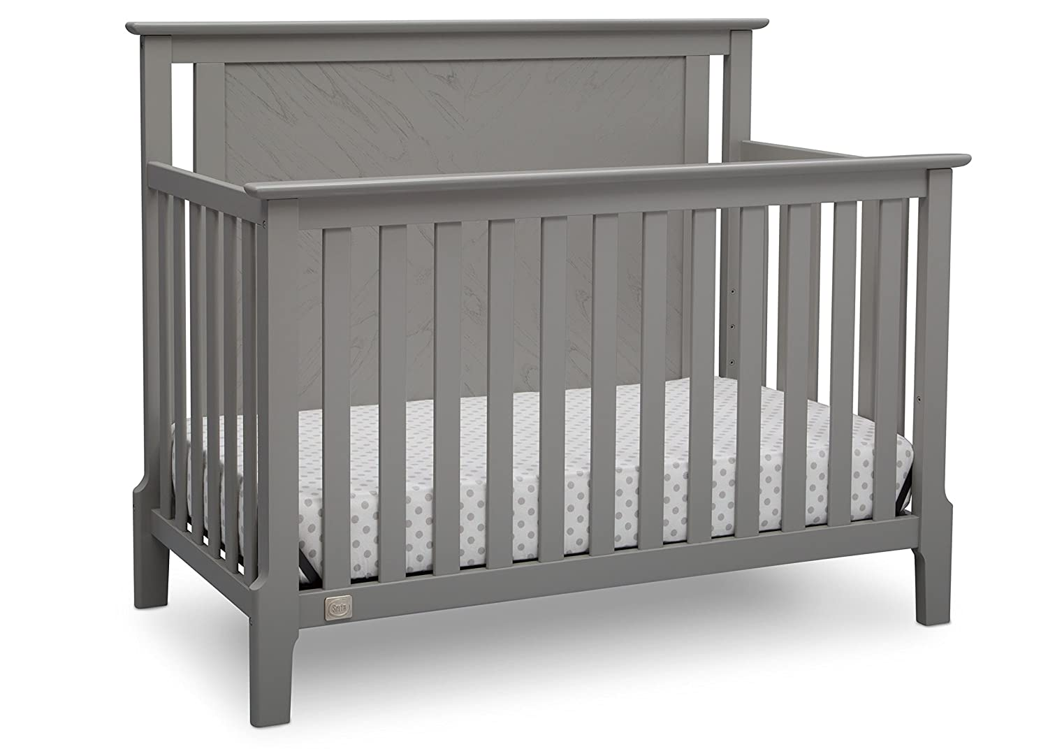 Serta Mid Century Modern Lifestyle 4-in-1 Convertible Baby Crib, Grey