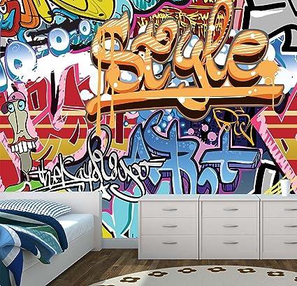graffiti wall mural photo wallpaper kids bedroom urban street artgraffiti wall mural photo wallpaper kids bedroom urban street art (large 1500mm x 1150mm) amazon co uk kitchen \u0026 home