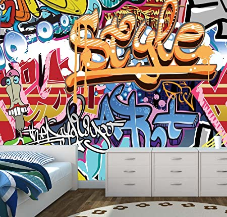 Graffiti Wall Mural Photo Wallpaper Kids Bedroom Urban Street Art X