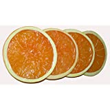 "Orange Slices - Faux Fake Fruit Food 3"" Round - Pack of 4 (Vibrant Color)"
