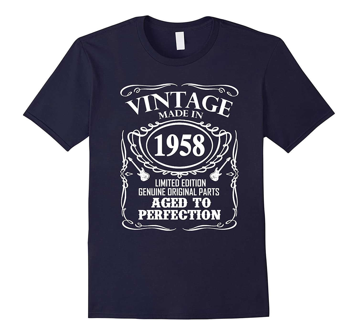 Vintage Made In 1958 59th Birthday Gift T-Shirt-Vaci