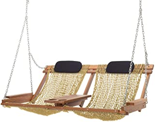 product image for Nags Head Hammocks Cumaru Deluxe Double Porch Swing, Tan DuraCord