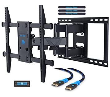 mounting dream md2298 premium tv wall mount bracket with full motion arm for most 42