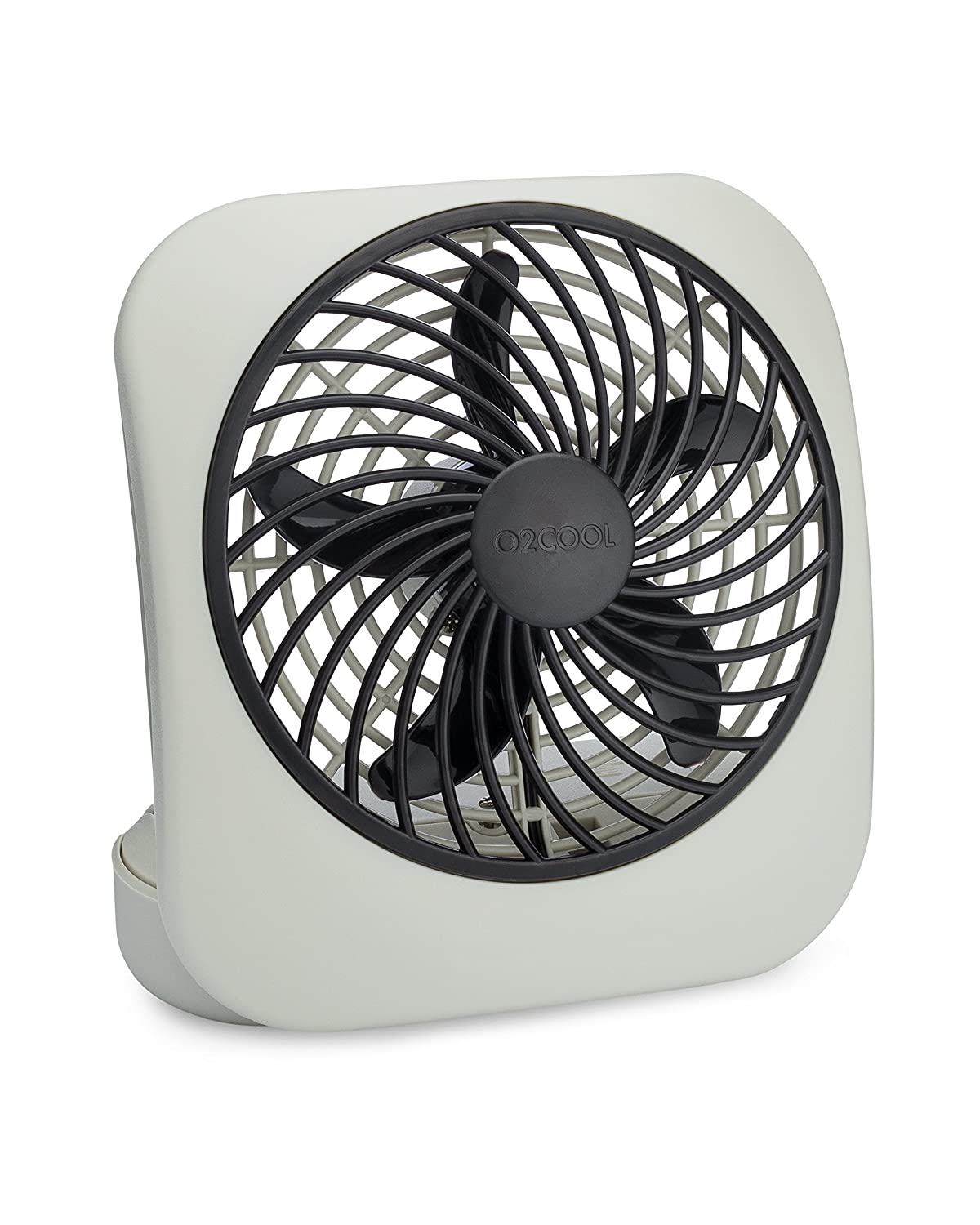 "O2COOL 5"" Portable Fan Battery Powered 1 Unit Grey"