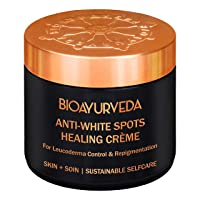 BIOAYURVEDA White Spots Healing Cream with Organic Remedy for Skin Discoloration, White Patches, Leucoderma,Ideal for Men and Women | (4 Fl Oz)