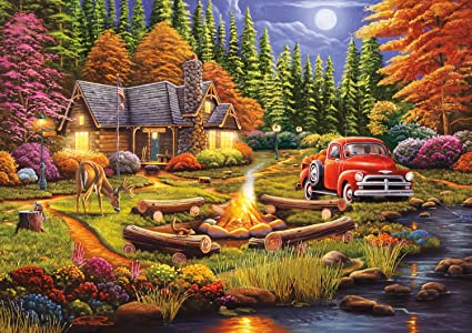 Country Road Buffalo Games Days to Remember 500 Piece Jigsaw Puzzle New