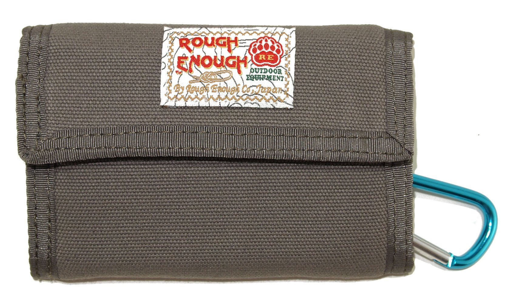 ROUGH ENOUGH Classic Stylish Vintage Fancy Heavy Canvas Wallet For Coins Purse Holder Organizer Case With Zippered Pockets Trifold Coin Pocket
