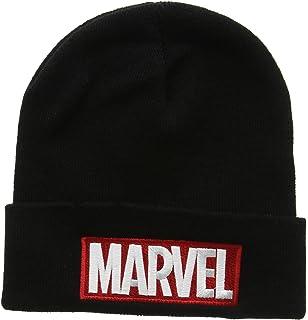 c024aafe63c37 ... where to buy marvel comics logo mens beanie hat 69d67 9f8fd
