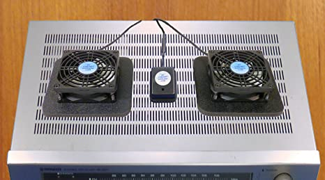 Amazon.com: Receiver or Amplifier Cooling Fans with thermoswitch & Multi-Speed Fan Control: Electronics