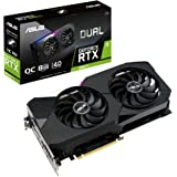 ASUS Dual NVIDIA GeForce RTX 3060 Ti V2 OC Edition Gaming Graphics Card (PCIe 4.0, 8GB GDDR6 Memory, LHR, HDMI 2.1, DisplayPo
