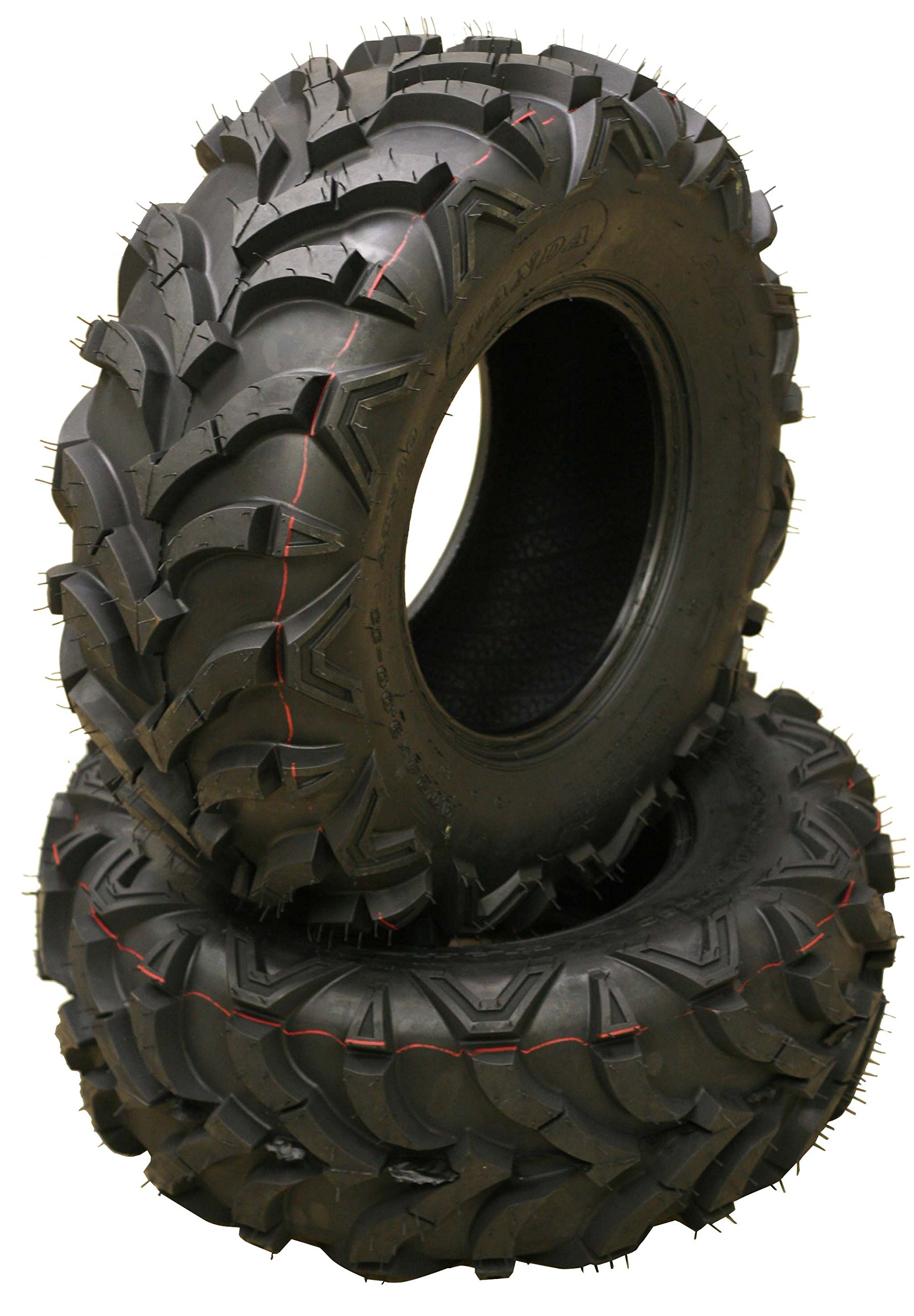 Set 2 front ATV Mud Tires 22x7-11 22X7X11 6PR for Honda Recon 250 Suzuki Ozark 250