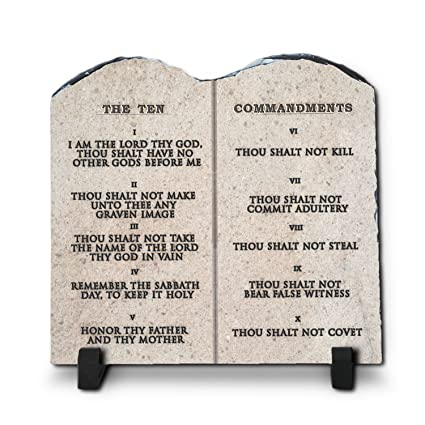 Amazon.com: InspiraGifts The Ten Commandments Religious Inspirational Christian Home Plaque Stone Gift, 7.8-Inch-by-7.8-Inch, King James Version: Home & ...