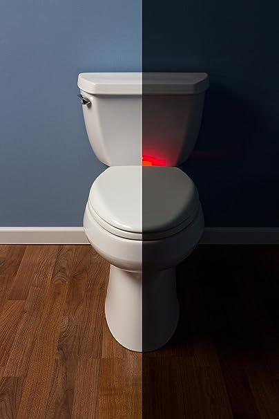 MAYFAIR Nightlight Toilet Seat will Slow Close Never Loosen, ELONGATED, Long Lasting Solid Plastic, White, 187SLNL - - Amazon.com