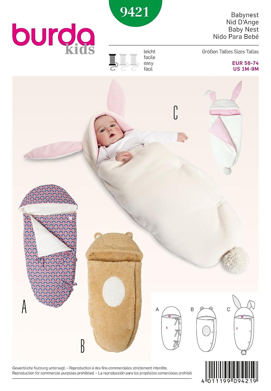 Burda Schnittmuster Babynest 9421: Amazon.de: Küche & Haushalt