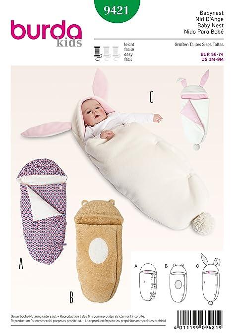 Burda B9421 Baby Cocoon Blanket/Sleeping Bag Sewing Pattern (19 x ...