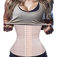 Bafully Womens Waist Trainer Corset Slimming Body Shaper Tummy Control Girdle Band Steel Boned Underwear