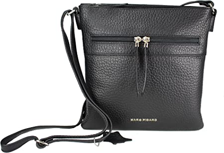 Marc Picard Sac, dame, Crossbag, cuir noir: Amazon.fr: Bagages