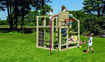 MASGAMES Parque Infantil Torre Crossfit con Barra de Bombero: Amazon.es: Juguetes y juegos
