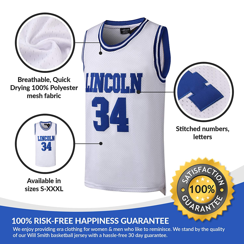 780d441cc28 Amazon.com   AFLGO Jesus Shuttlesworth  34 Lincoln High School Basketball  Jersey S-XXXL White