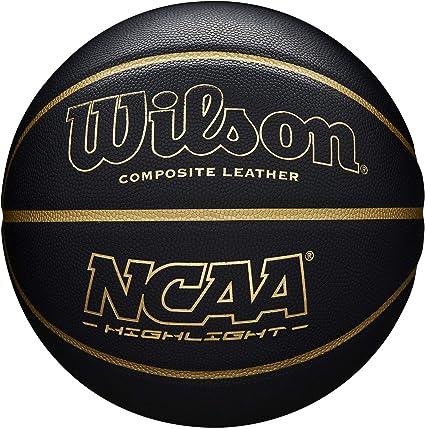 Wilson WTB067519XB07 Pelota de Baloncesto NCAA Highlight Cuero ...