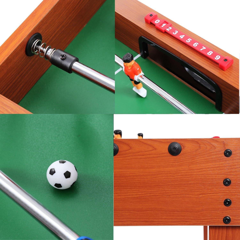 ceanfly futbolín competencia 48 pulgadas interior fútbol Arcade Game Home Roma Sports juego de mesa para niños adultos de la familia (8 varillas de rotación y # xFF0 C; 2 bolas), Madera: