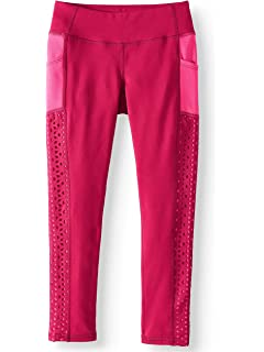 Rose Sangria Avia Toddler Girls Performance Pieced Leggings with Moisture Wicking Fabric