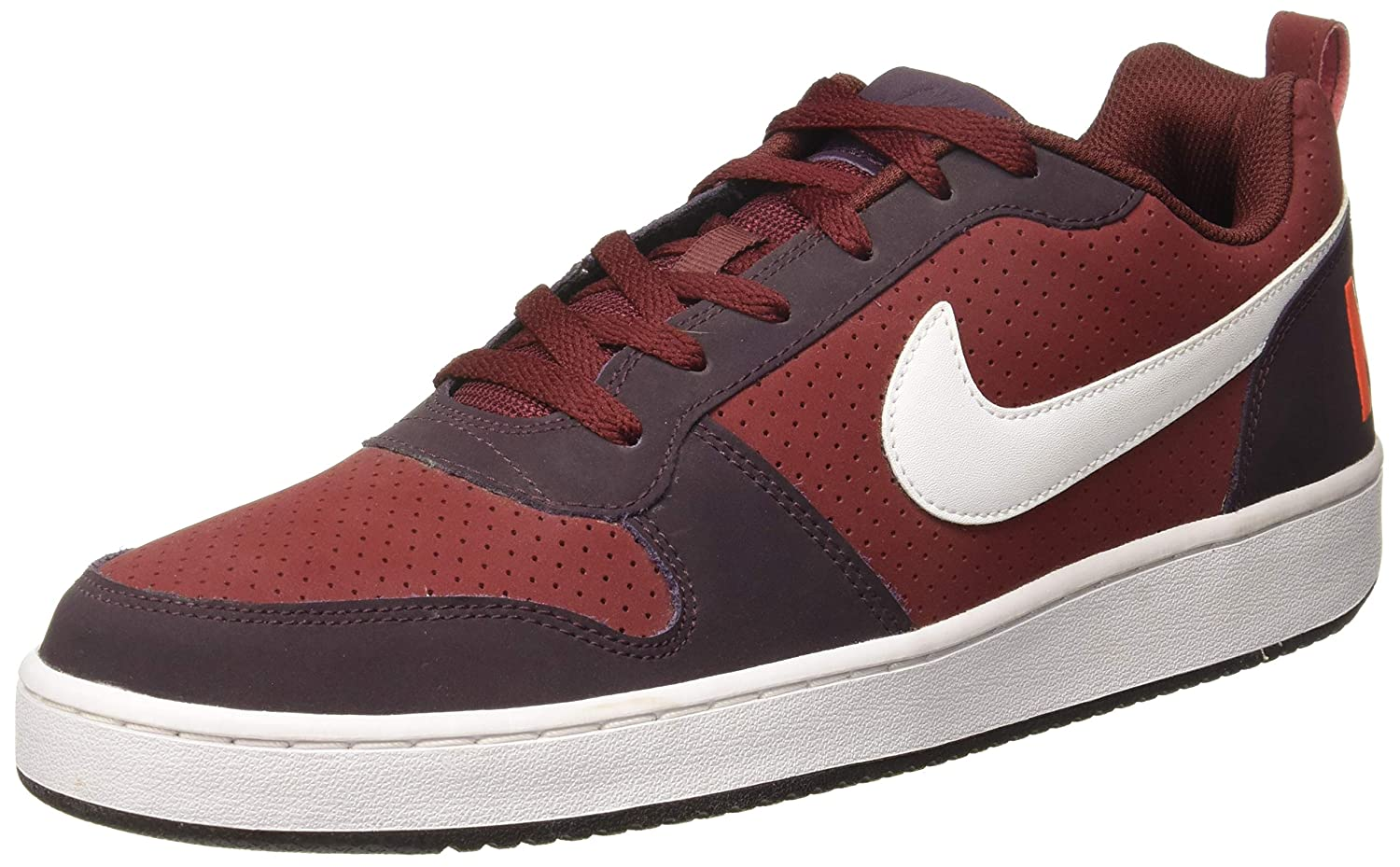 100% genuine cost charm 100% genuine Nike Men's Court Borough Low Maroon Sneakers