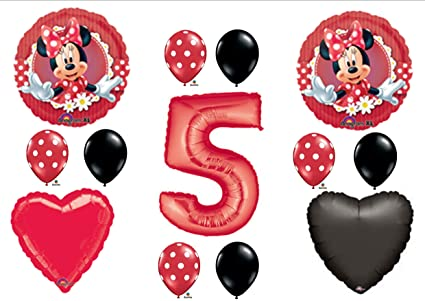 Amazon.com: Home Creations Mad About Minnie Mouse 5th Globos ...