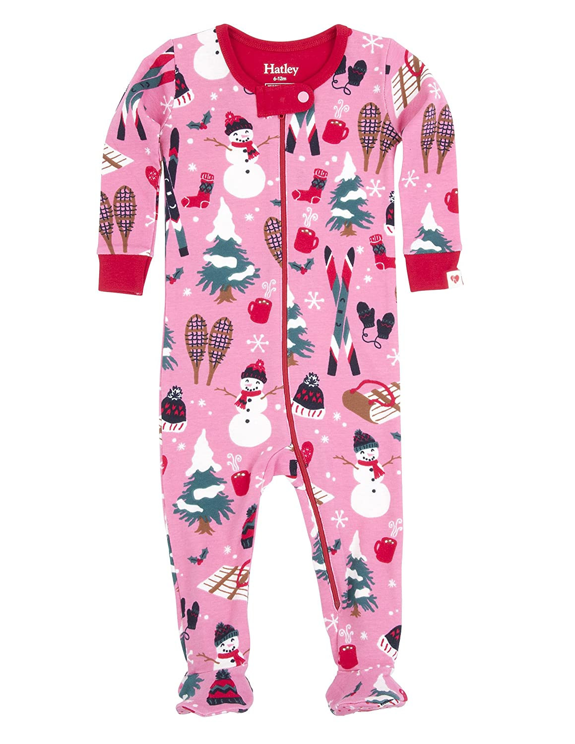 Hatley Baby Girls' Footed Coverall Vintage Holiday Footies DR5VACA132